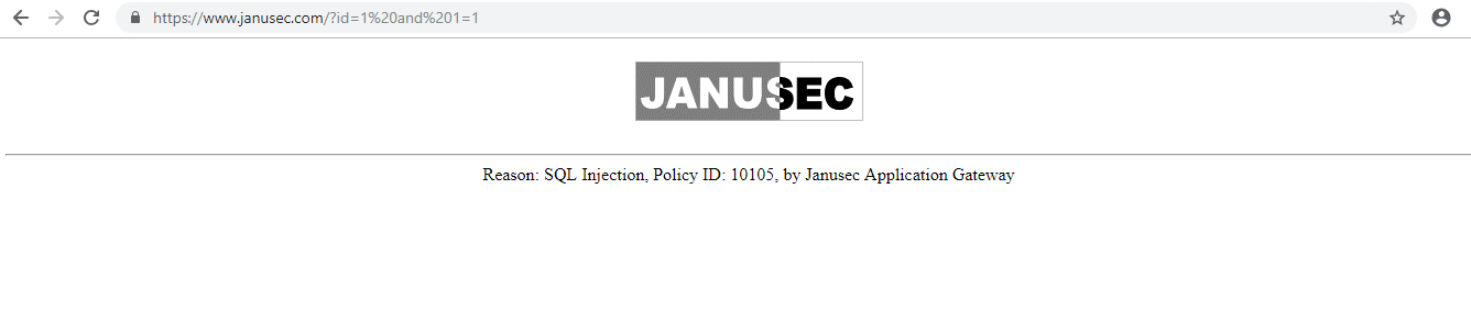 Block Information of Janusec Application Gateway
